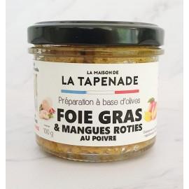 FOIE GRAS & MANGUES ROTIES AU POIVRE
